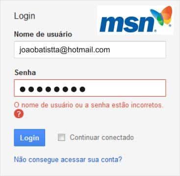 Não Consigo Acessar Meu MSN Bloqueado [Resolvido]