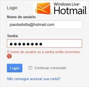 Não Consigo Acessar Meu <strong>Hotmail Bloqueado</strong> [Resolvido]