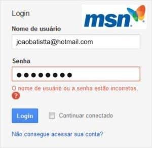 Não Consigo Acessar Meu <strong>MSN Bloqueado [Resolvido]</strong>