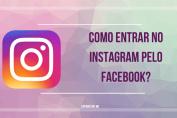 como entrar no instagram pelo facebook